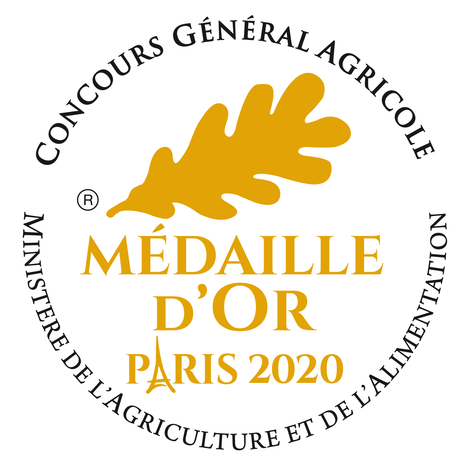 Medaille Or 2020 CGA CR BLANC 2019